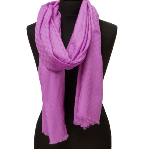 ThannaPhum Luxe Cashmere sjaal paars 75 x 200 cm