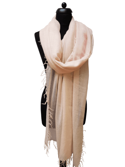 Luxe ThannaPhum Cashmere zomersjaal - lichtroze