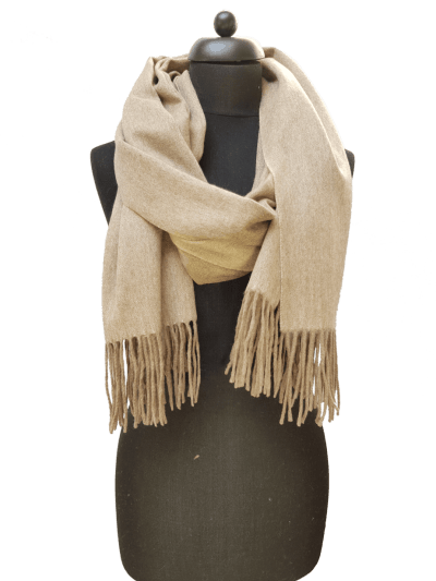 ThannaPhum Luxe Cashmere sjaal camel 70 x 180 cm