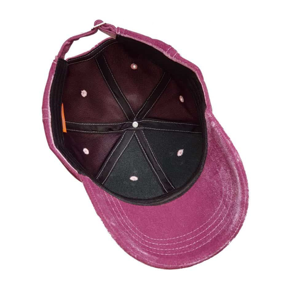 ThannaPhum roze Velvet Baseball Golf cap