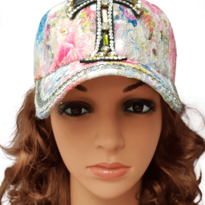 ThannaPhum glitter glamour cap flower cross