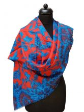 ThannaPhum luxe cashmere sjaal blauw rood